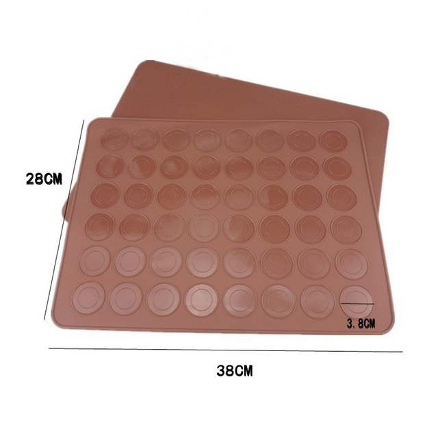 76360b8734a4 US $5.99 44% OFF|Wulekue Silicone 48 Cavity Muffins/Almond Round Cakes  Tools Pastry Macaron Baking Sheet Mat Large Cookie Decorating Tools-in  Baking & ...