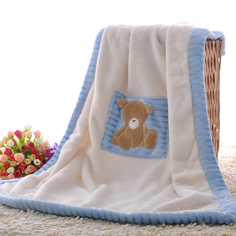 Embroidered Baby Blankets Girl Boy Embroidered Baby Throw ...