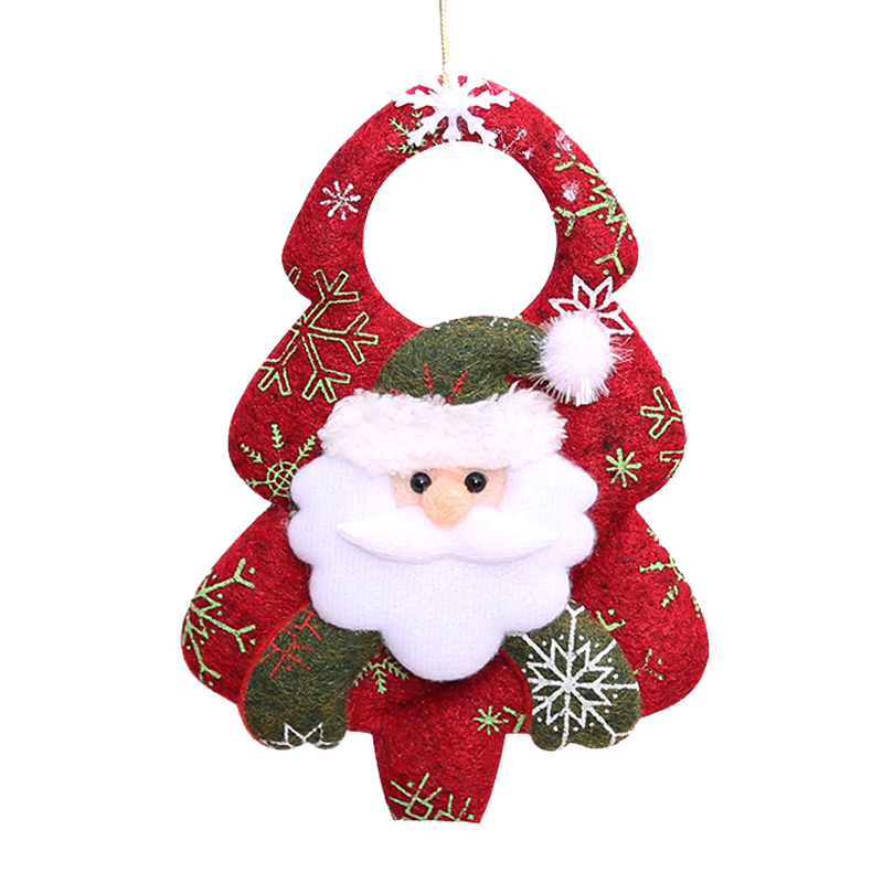 2018 New Year 4pcs/lot Santa Claus Doll Baubles Christmas Tree Hanging Ornaments Pendant Gift Toys Xmas Home Decorations JK283
