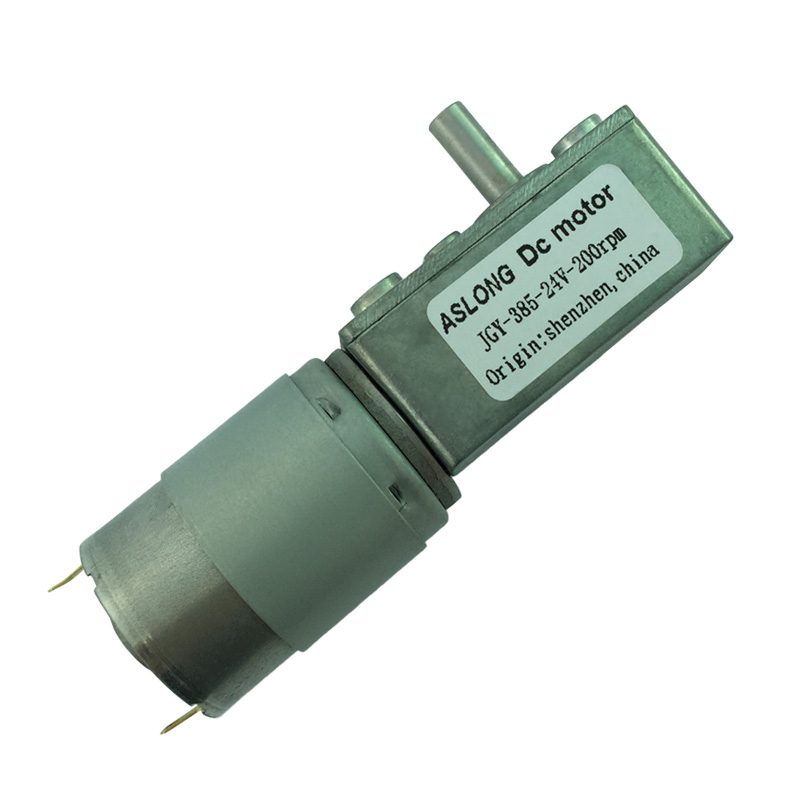 JGY385 DC Worm Gear Motor 6V 12V 24V Micro Motor 8/13/23/50/200RPM