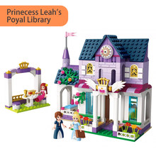 422pcs 2608 Princess Leah Royal Library Set With Kiosk Mini figures Minifigs Building Blocks Toys For Girls Kids Creative Gifts(China)