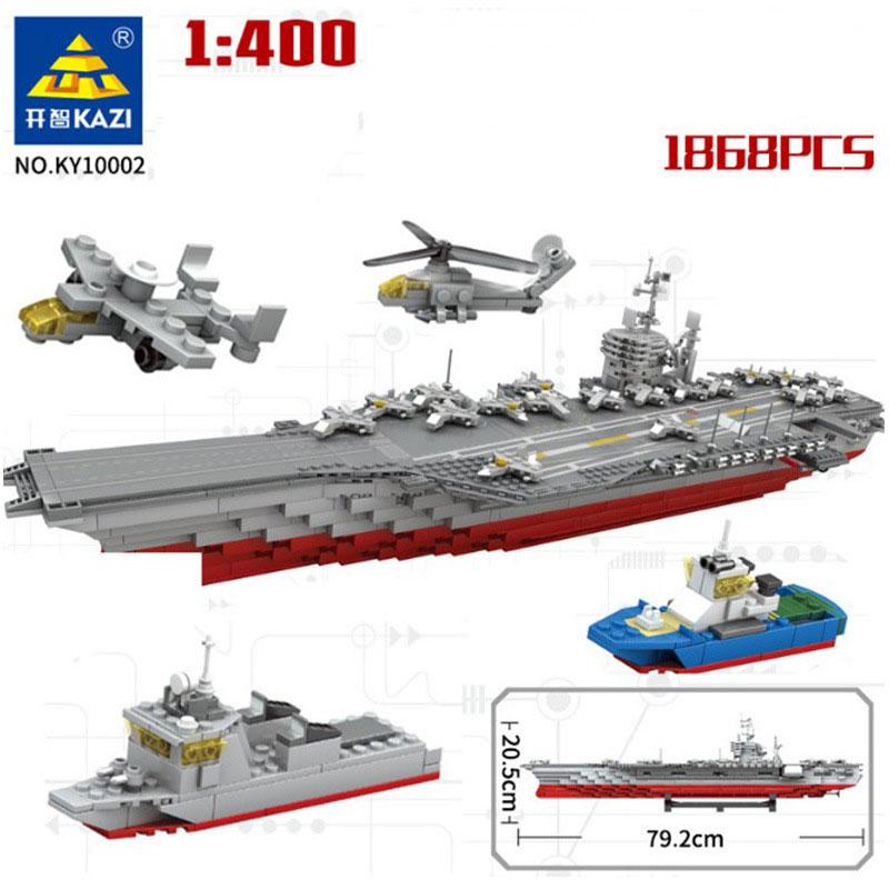 KAZI 10002 Military Bismarck battleship building blocks sets Gift ship Construction Brick Educational Hobbies Toys for children цена