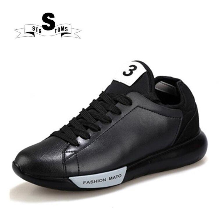 5f8db1c01d0da New Dark Black White 2018 Low Top Quality Shoes Men Breathable Casual  Designer Genuine Leather Fashion