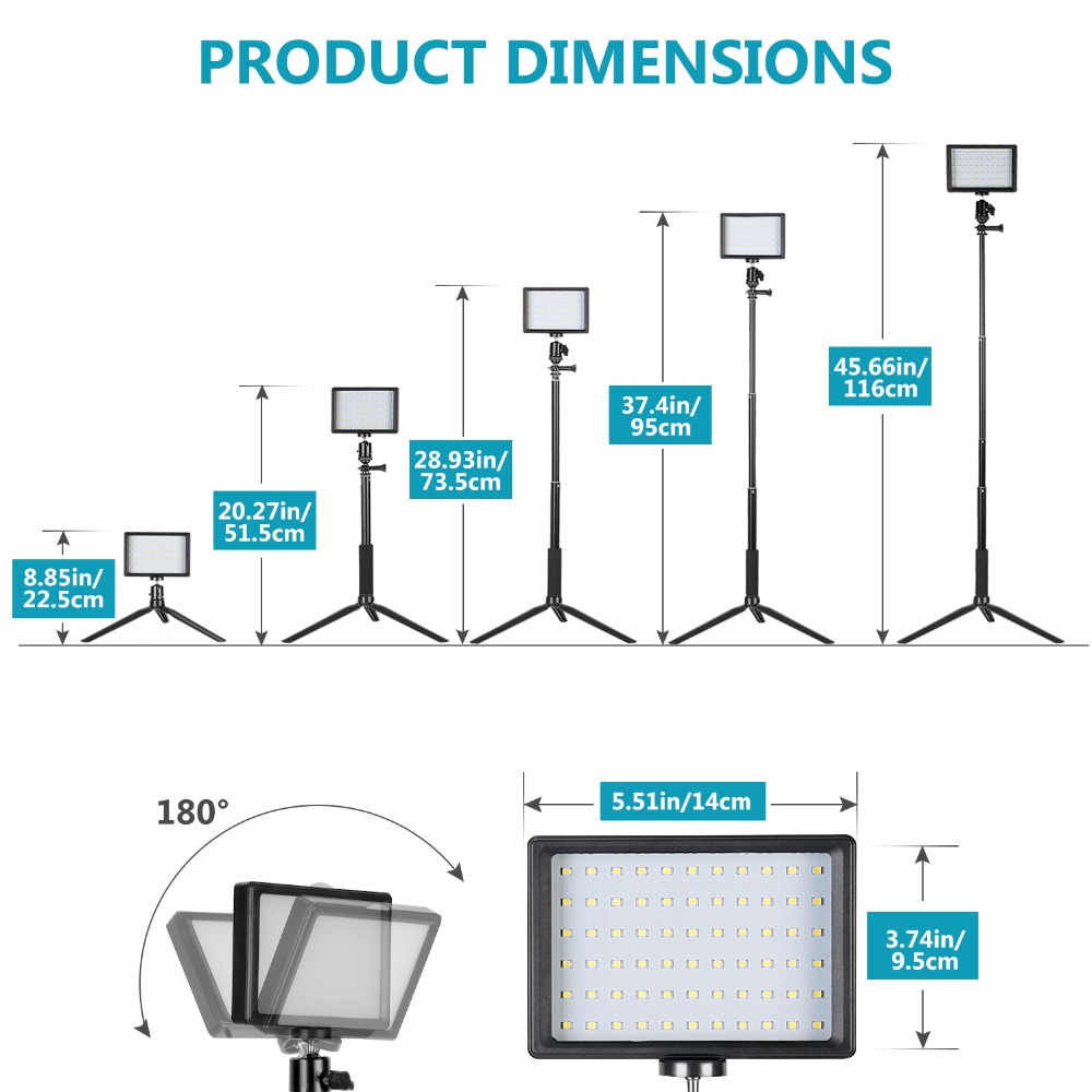 Zoom Calls 2 Pack 70 LED Video Conference Lighting with Tablet Stand Holder//Color Filters Obeamiu 5600K USB Studio Lights Kit for Video Recording YouTube Live Streaming Photography Shooting