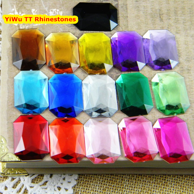 500pcs/Bag 13*18mm Flat Back Rectangle Shape Acrylic Rhinestones,Acrylic Plastic 3D Nail Art / Garment /Jewelry Rhinestone  500pcs bag 13 18mm flat back oval shape acrylic rhinestones acrylic plastic 3d nail art garment jewelry rhinestone