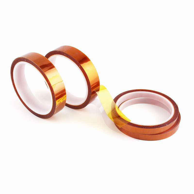 1Pc Width 5/6/8/10/12/15/18/20/25/30mm Length 30M Heat Resistant Polyimide Tape High Temperature Adhesive Insulation Kap Tape