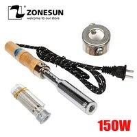 Zonesun 150W Electric Solder Besi Embossing Hot Stamping Kulit Percetakan Logo Stamping Mesin Kulit Kue Branding