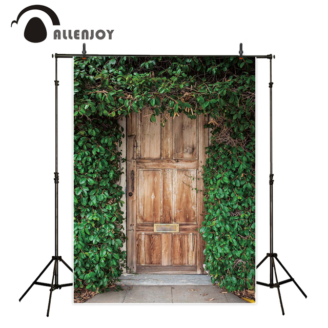 Allenjoy background photography green tree wood door family professional backdrop photo studio photo printer photocall  sc 1 st  AliExpress.com & Allenjoy background photography green tree wood door family ...