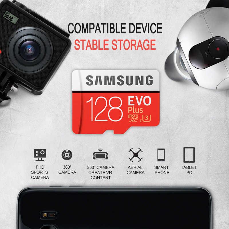 מקורי Samsung tarjeta micro sd 128GB max100MB/S Class10 SDXC U3 4K TF פלאש כרטיס microsd זיכרון כרטיס עבור טלפונים חכמים