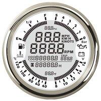 Универсальный 85 мм 6 в 1 Многофункциональный манометр цифровой спидометр датчик уровня топлива масла Давление вольт Тахометр fit лодка автом