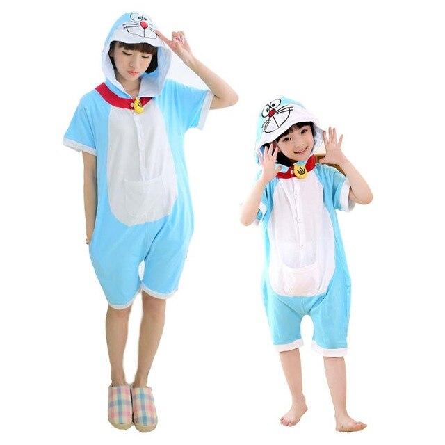 f0b2cdf038 Couple family matching summer unisex short sleeve t shirt with pants onesie  adult animal jumpsuit pajama unicorn panda bear
