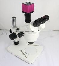 Продолжить Стерео Тринокулярный Микроскоп 7X-45X + новейшие HDMI USB Промышленной Камеры для промышленности телефон/ремонт ПЕЧАТНОЙ ПЛАТЫ ing