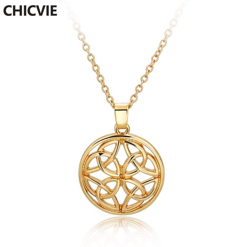 Купить chicvie золотое длинное ожерелье из смолы для женщин аксессуары