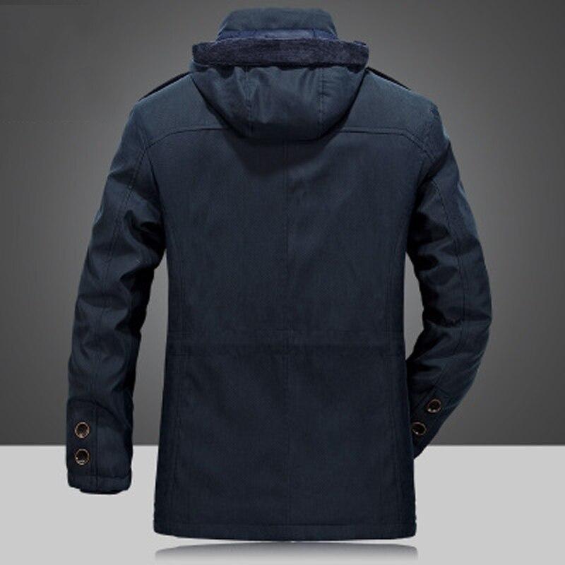 c81af4f7da1b Men s Winter Thicken Warm Hooded Military Brand Army Green Jacket Coat Men  Cotton 2018 khaki fleece thick coats Puls size 4XL