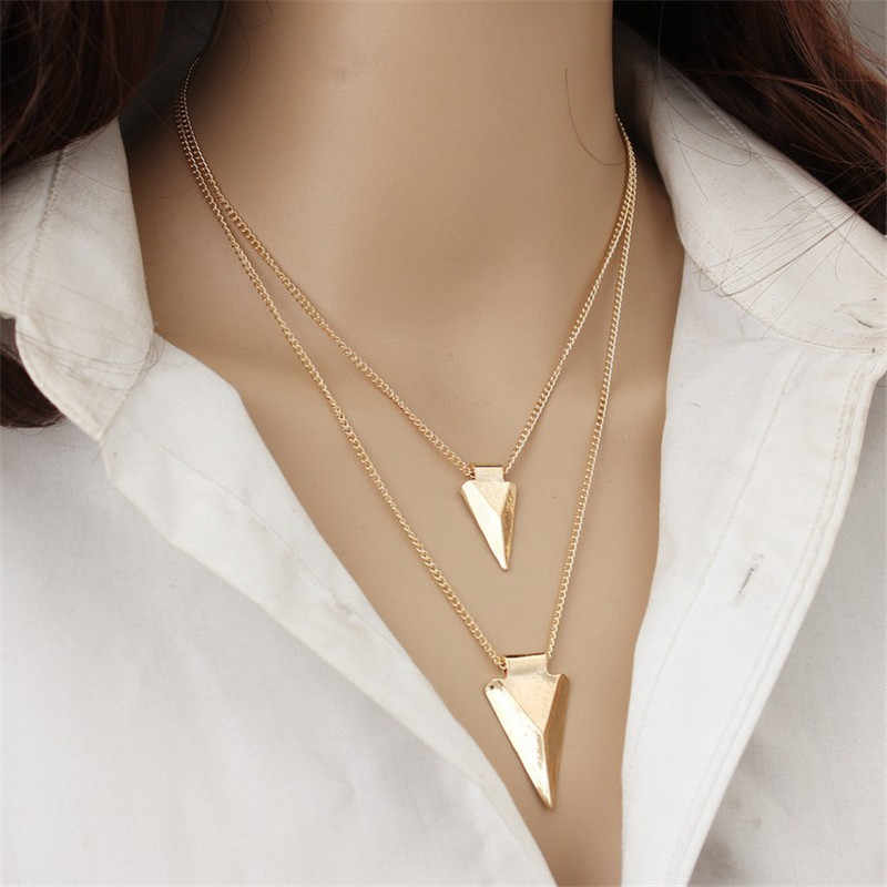 New Boho Jewelry Multi Layer Choker Necklaces for Women Sexy Moon Fashion Pendant Vintage Collier Tassels choker Necklace Bijoux