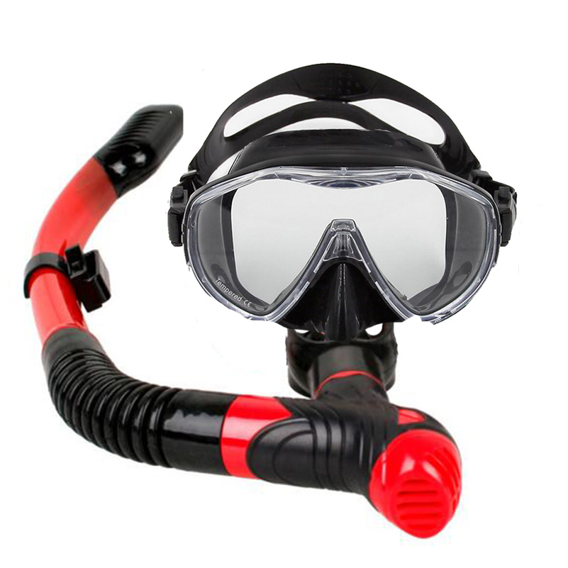 New 5 Colors Snorkeling Full Dry Diving Scuba Swimming Tube Breathing Snorkel with Silicone Purge Mouthpiece Valve ...