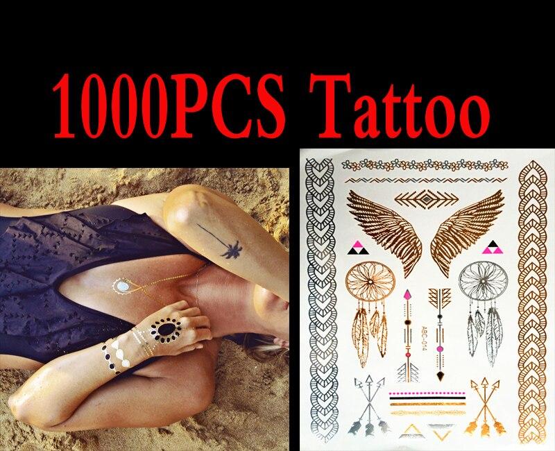 1000 шт высокого качества золотые синие Временные татуировки боди арт, металлик серебряные татуировки в стиле металл золото оптовая фольга з