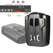 Автомобильный антирадарный детектор V9, 12 В, 360 градусов, автомобильный Дальнобойщик, светодиодный дисплей, система охранной сигнализации для вождения, Предупреждение ющий детектор скорости