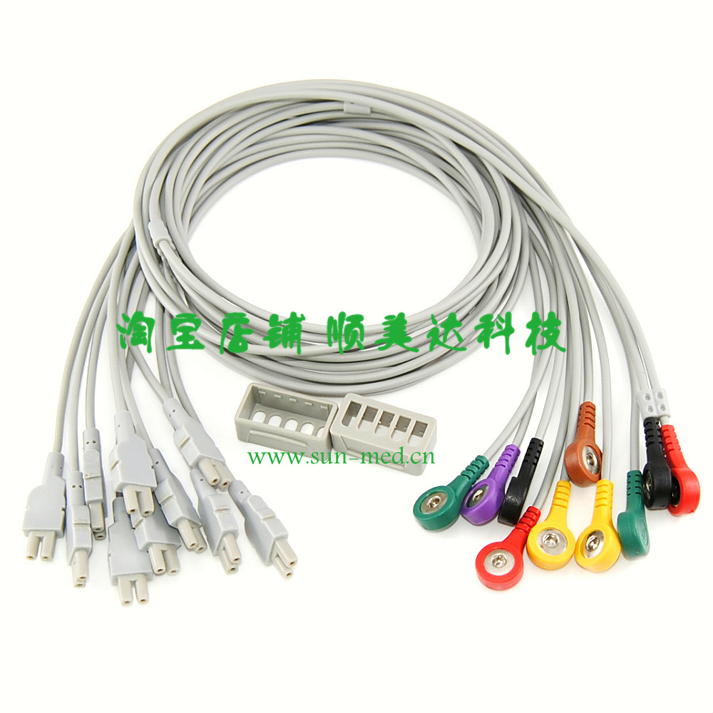 Leads for GE Marquette CAM 14 Acquisition Module , 10 leadwires ...