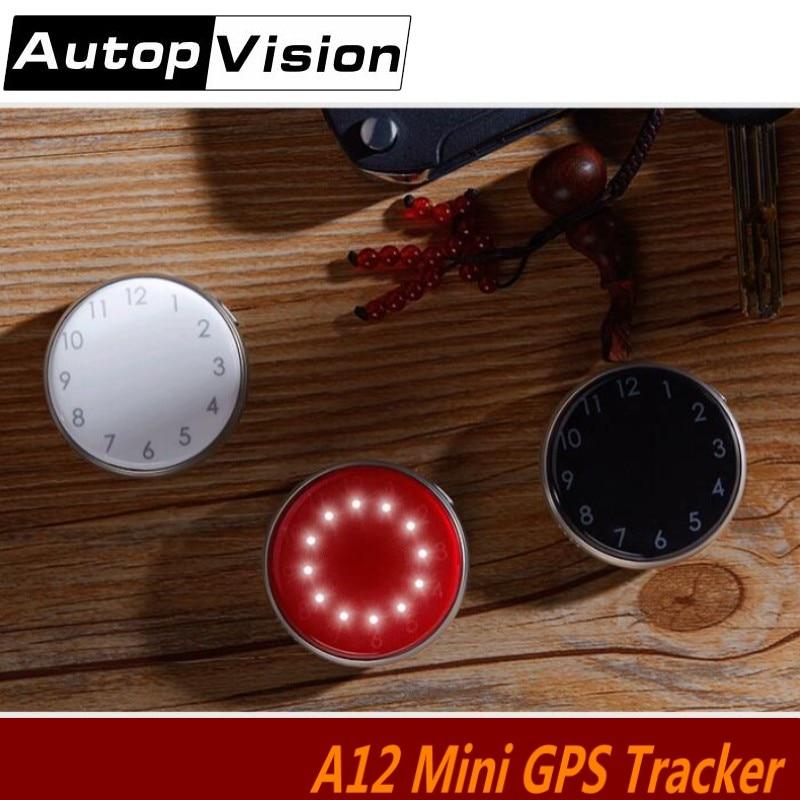 5pcs Mini GPS Tracker A12 Quad Band Voice Monitor Personal Car Kids GPS GSM GPRS Tracker Locator Clock GSM Tracking Device SOS