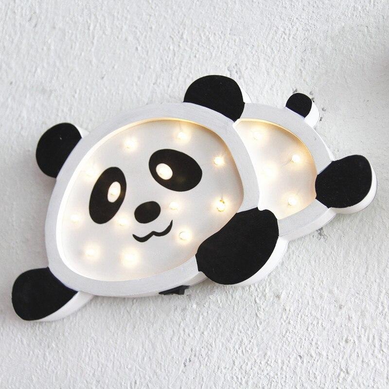 С рисунком панды/пингвин/Футбол светодиодный деревянный ночник ребенок Спальня ночники дома моды Декор настенный светильник veilleuse0511