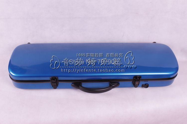 ФОТО dark blue   color    4/4 Violin case Glass Fiber Soft Imitate Leather Pink White Black #001