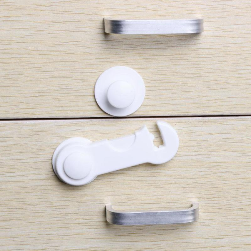 5Pcs/lot Child Baby Safety Lock Cabinet Drawer Locks Protection Cupboard Door Safety Children Security Protector Baby Care