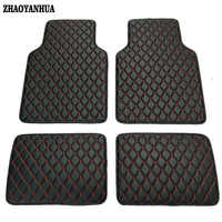 ZHAO YANHUA Universal Car floor mats for BMW 3 5 7 Series F20 E90 F30 E60 F10 F11 G30 F01 G11 X1 car styling waterproof carpet