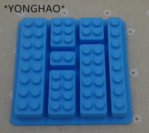 Lego Toy Brick Shape Silicone Fandont Chocolate Mold Ice Cube Mould Sweet Candy Jelly Cake Bakeware Cake Tools