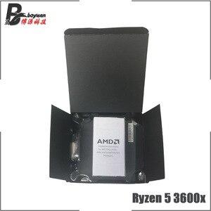 Image 2 - AMD Ryzen 5 3600X R5 3600X3.8 GHz שש ליבות עשר חוט מעבד מעבד 7NM 95 W l3 = 32 M 100 000000022 שקע AM4 חדש עם מאוורר