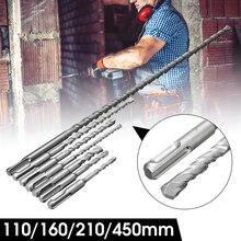 SDS сверло для каменной кладки вольфрамовый наконечник карбит для бетона/кирпича с наконечником, набор для бурения бетона, аксессуары для электроинструмента
