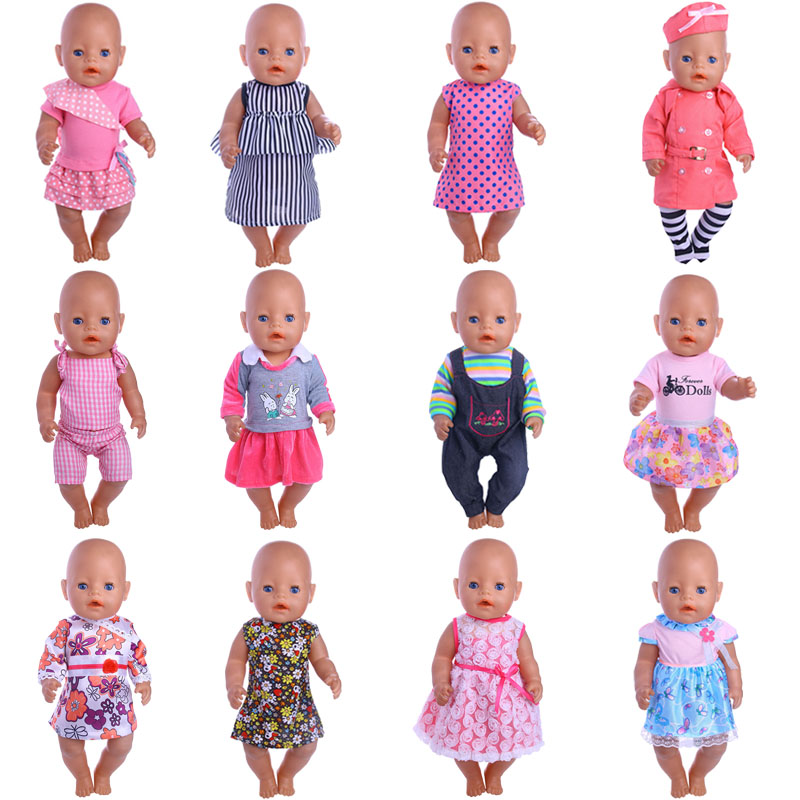 2018 new clothing, 12 new style dress fit 43CM baby born dolls for children to give the best toys accessories the best best baby