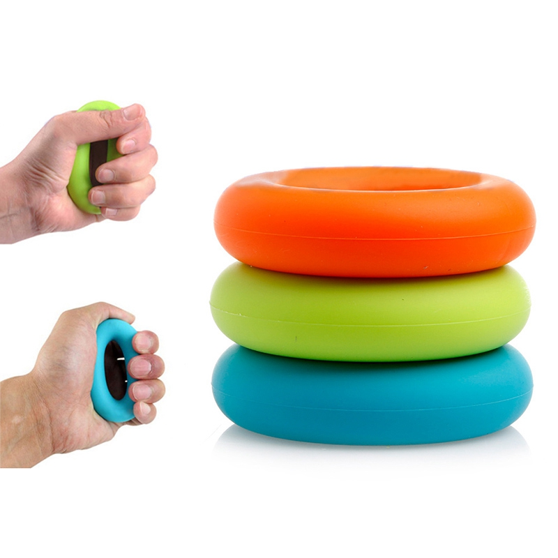 New 7cm Diameter Muscle Power Training Rubber Ring Strength Hand Grip Ring Exerciser Gym Expander Gripper Strength Finger Ring