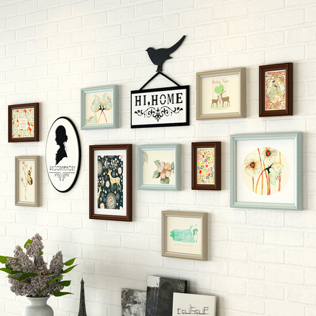 New Pastoral Style Multi Color Wall Photo Frame Set For Wedding ...