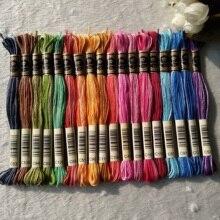 Royalbroderie египетская длинноволокнистая хлопковая нить для вышивки крестиком ручная вышивка 18 космических крашеных цветов нить для вязания
