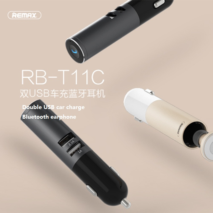Remax RB-T11C T11C Mini Bluetooth earphone USB Car Charger Dock Wireless Car earphone Bluetooth Earphone for iPhone7 Android aaliyah 2in1 mini bluetooth headphones usb car charger dock wireless car headset bluetooth earphone for iphone 7 6s android