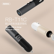 Remax RB-T11C T11C Mini Bluetooth earphone USB Car Charger Dock Wireless Car earphone Bluetooth Earphone for iPhone7 Android