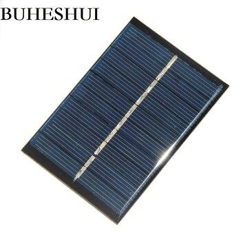 BUHESHUI Polycrystalline 0.6W 5V Mini Solar Panel Charger For 3.7V Battery Light Education 80*55mm Wholesale 100pcs