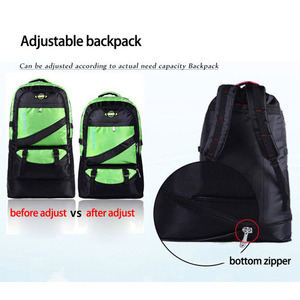 Image 2 - 60L waterproof men nylon backpack travel pack sports bag pack Outdoor Mountaineering Hiking Climbing Camping backpack for male