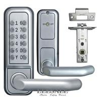 Brand New Keyless Mechanical Door Lock Push Button Digital Combination Code Password Zinc Alloy Lock With Handle