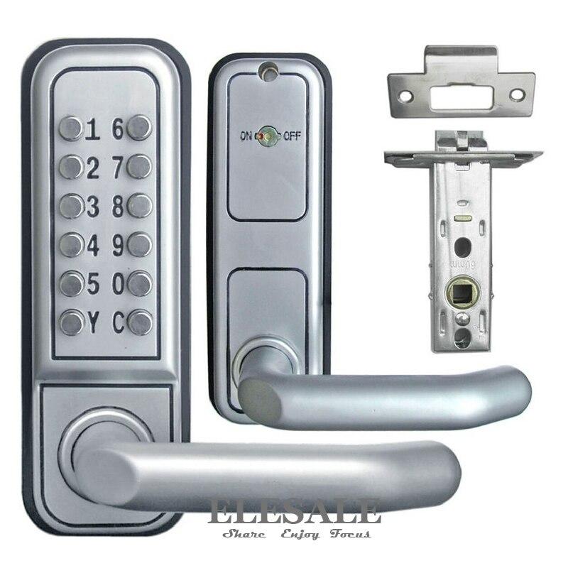 Nouvelle serrure de porte mécanique sans clé bouton poussoir Code de combinaison numérique mot de passe serrure en alliage de Zinc avec poignée