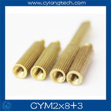Free shipping M2*8+3mm  cctv camera isolation column 100pcs/lot Monitoring Copper Cylinder Round Screw