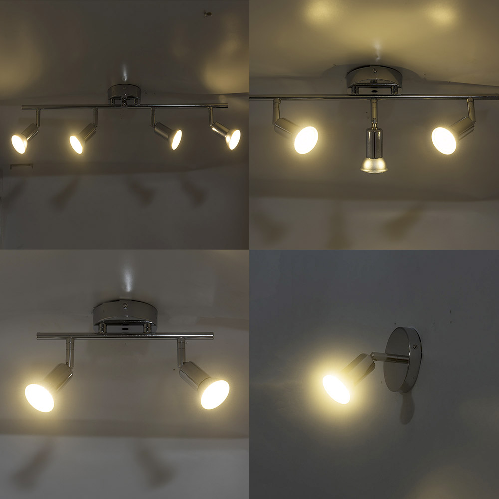 Adjustable 2 3 4 heads LED Chandeliers Living dining Room showcase led ceiling Chandelier light rotatable Home Lighting Fixtures in Chandeliers from Lights Lighting