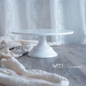 Image 4 - SWEETGO Grand Baker soporte para pastel, 12 pulgadas, herramientas de boda blancas, molde para Fondant, suministros de decoración de cupcakes, mesa de postre