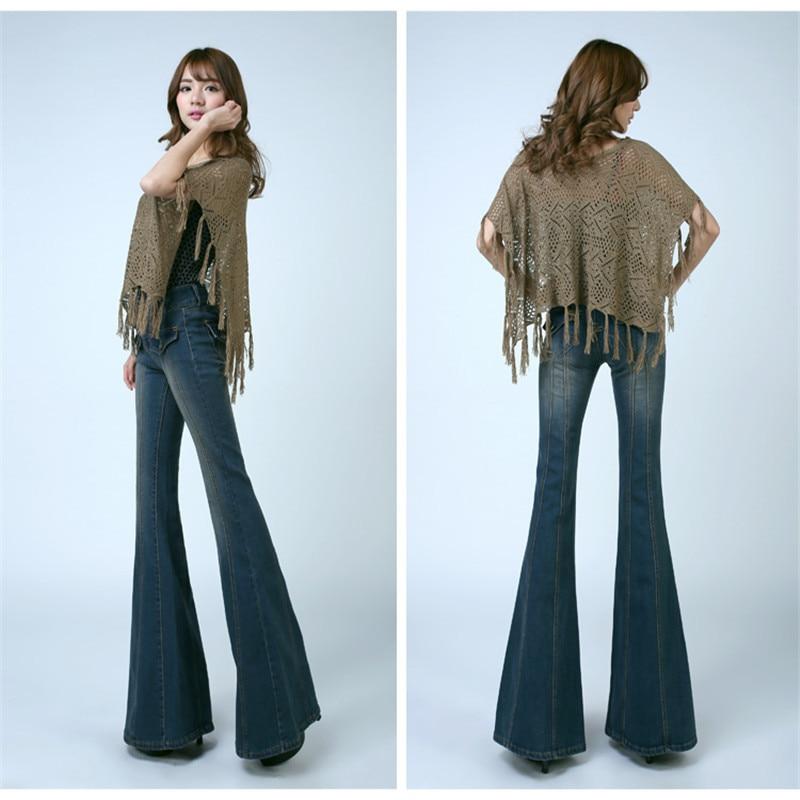 Aliexpress.com : Buy 2017 Fashion High Waist Bell Bottom Jeans ...