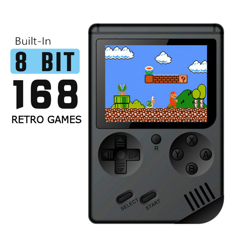 Portable Mini Handheld Game Console 8-Bit 3.0 Inch Color LCD Children Kids Game Player Built-in 168 Classic Games Z2