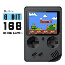 лучшая цена Portable Mini Handheld Game Console 8-Bit 3.0 Inch Color LCD Children Kids Game Player Built-in 168 Classic Games Z2