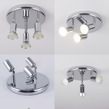 AC 90 260V LED Ceiling Light with 3 Swiveling Light Spots GU10 Ceiling Spot Lights for indoor Lighting Fixtures Decoration