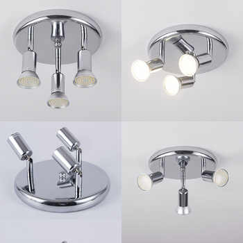 AC 90-260V LED Ceiling Light with 3 Swiveling Light Spots GU10 Ceiling Spot Lights for indoor Lighting Fixtures Decoration - DISCOUNT ITEM  40% OFF All Category