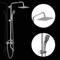 1 Set Top Quality 8 Inch 360 Degree Stainless Bathroom Shower Faucets Set Rainfall Shower Head